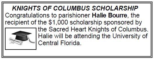 20170618 KOC Scholarship Recipient