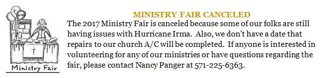 20170915 cancel ministry fair