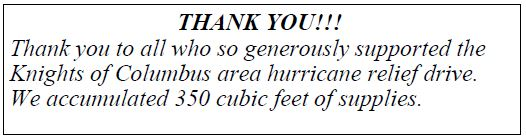 20171015 Thank U KOC Hurricane Relief pic
