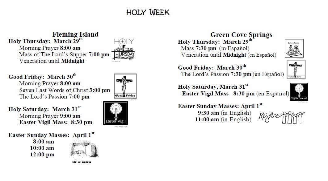 20180318 Holy Week Schedule pic