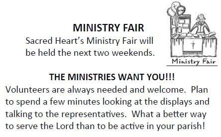 20180916 Ministry Fair Next 2 wkends