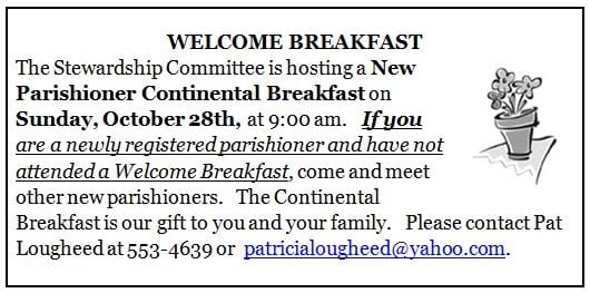 20181018 Welcome Breakfast