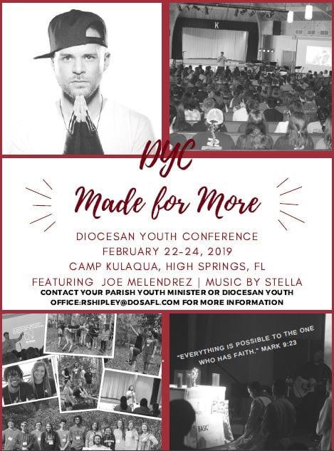 20181021 YM Diocesan Youth Conf Feb 22 2019
