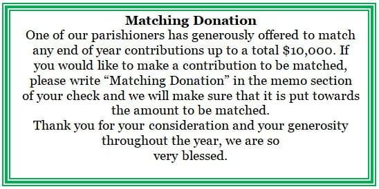 20181209 Matching Donations