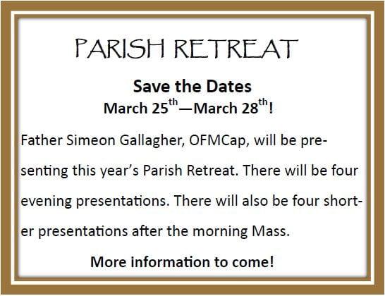 20190120 Parish Retreat pic in March