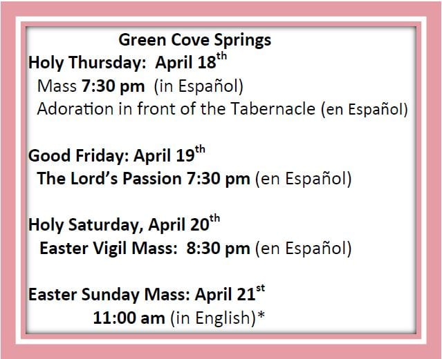 20190407 Easter Holy Day Schedules 2