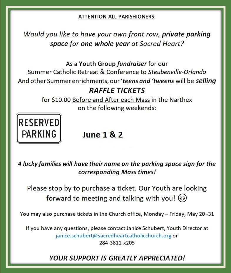 20190526 YM Raffle for Parking Space
