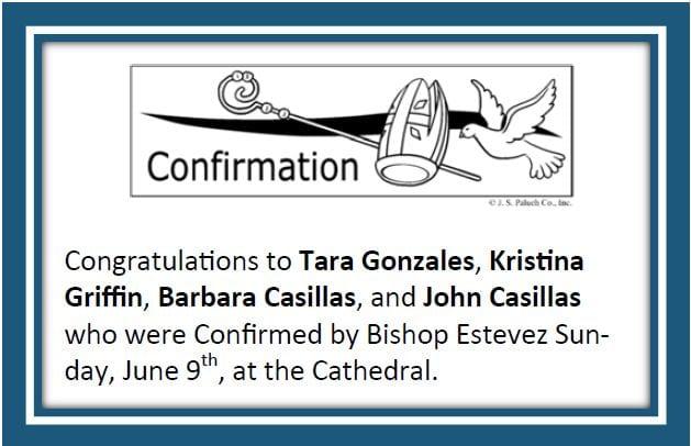 20190623 Congrats to Confirmations