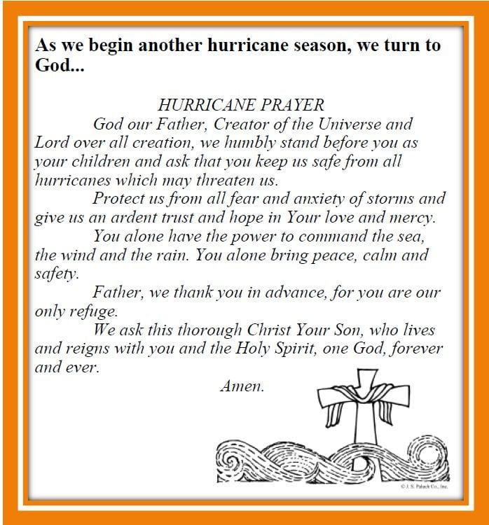 20190623 Hurricane Prayer for the Season