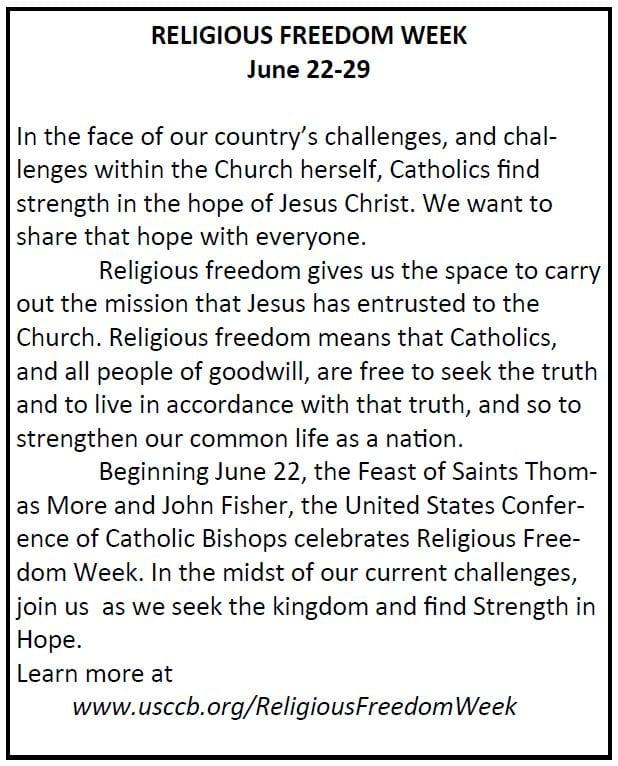 20190623 Religious Freedom Week