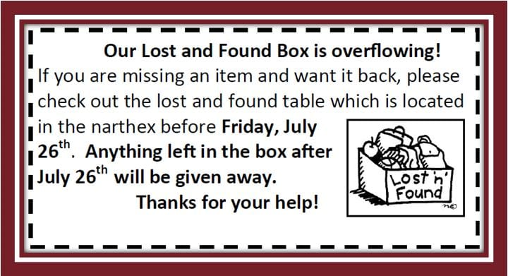20190721 Lost and Found pickup