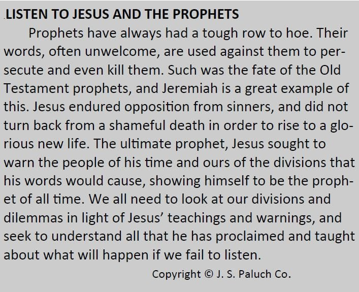 20190818 Listen to Jesus and the Prophets_Paluch