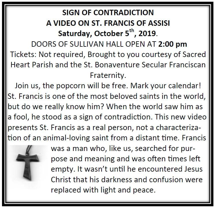 20190818 Video St Francis of Assisi