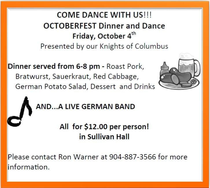 20190915 KofC Octoberfest Dinner and Dance