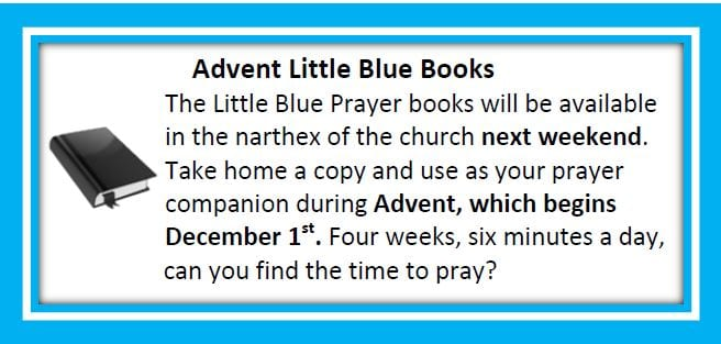20191117 Advent Little Blue Books