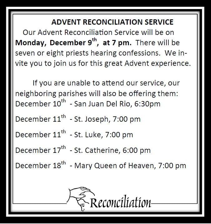 20191117 Advent reconciliation Schedule