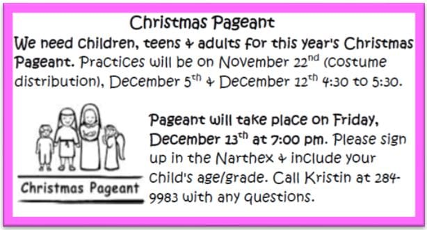 20191117 Christmas Pageant