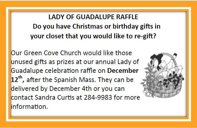 20191117 Lady of Guadalupe Raffle GCSPS