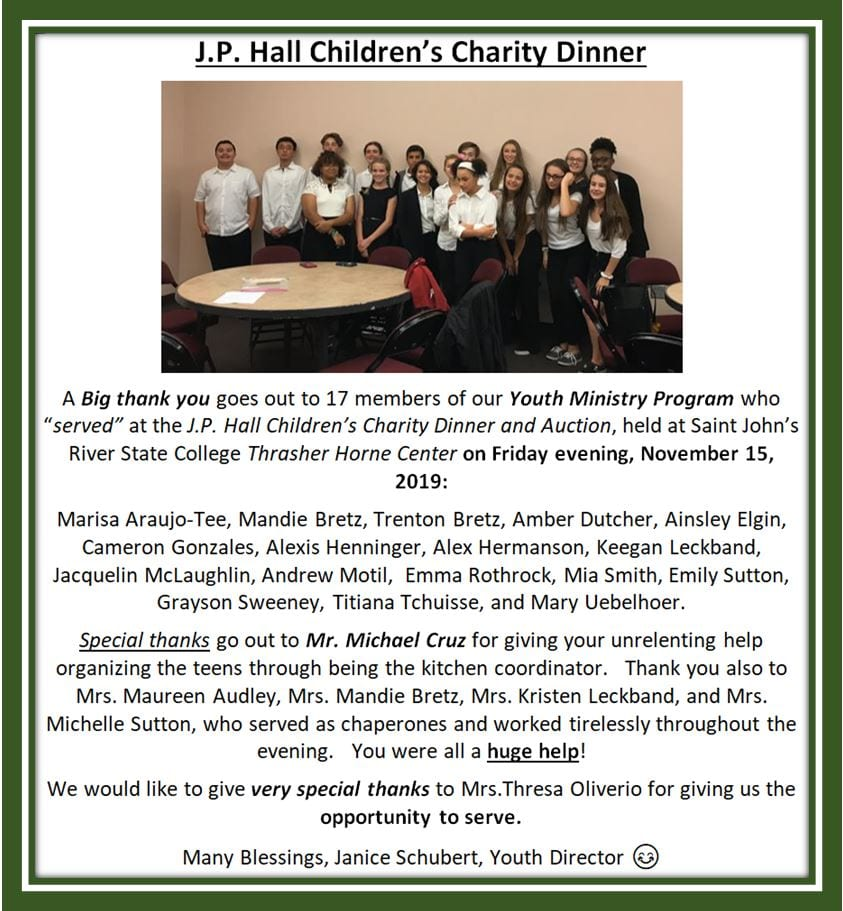 20191201 YM Special Thanks JP Hall Childrens Charity Dinner