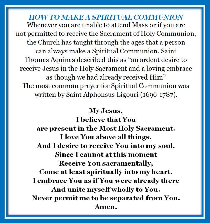 20200419 Making Spiritual Communion