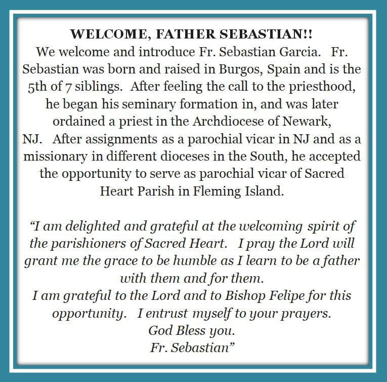 20200823 Welcom to Father Sebastian