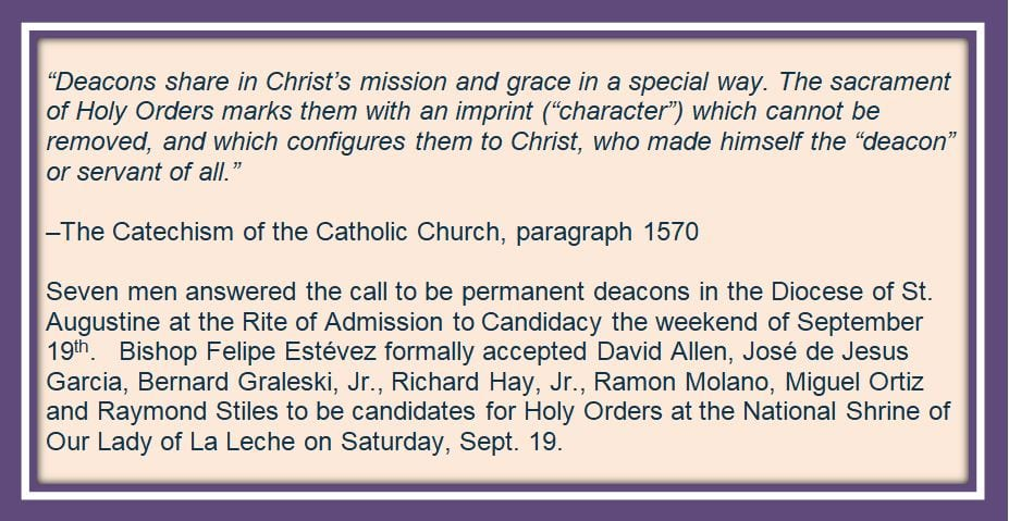20201014 Rite to Admission of Candidancy for Deacons Sept 19 2020