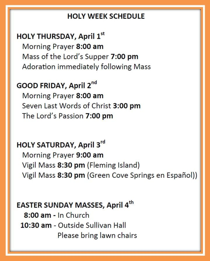 20210312 Holy Week Schedule