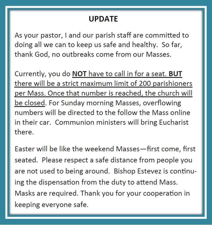 20210312 Update on Mass No Call Reservations