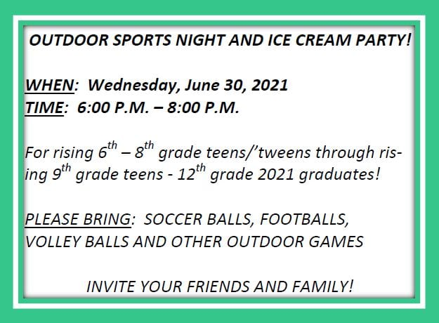 20210709 YM 20210627 Bulletin Outdoor Sports Night and Ice Cream