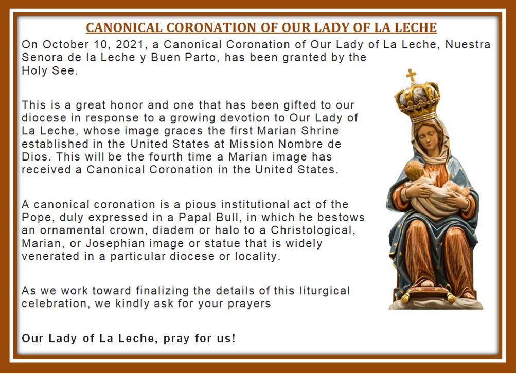 20210804 CCW Coronation of Our Lady of La Leche info