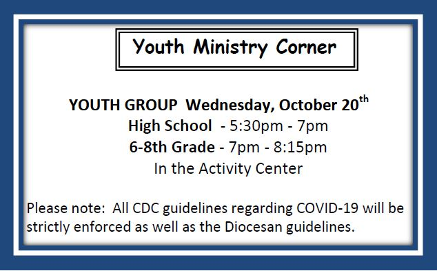 20211016 YM Youth Group Meeting Oct 20